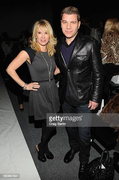 TV personalities Ramona Singer and Tom Murro attend the CZAR by Cesar Galindo Fall 2013 fashion show during MercedesBenz Fashion Week at The Studio...