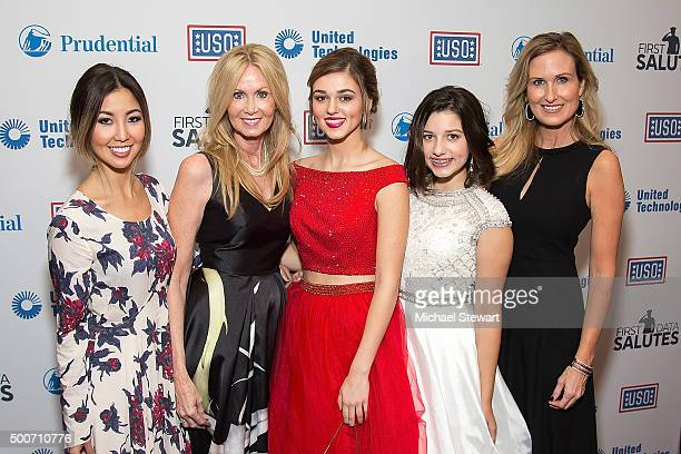 TV personalities Rebecca Robertson Chrys Howard Sadie Robertson Bella Robertson and Korie Robertson attend the 54th USO Armed Forces Gala and Gold...