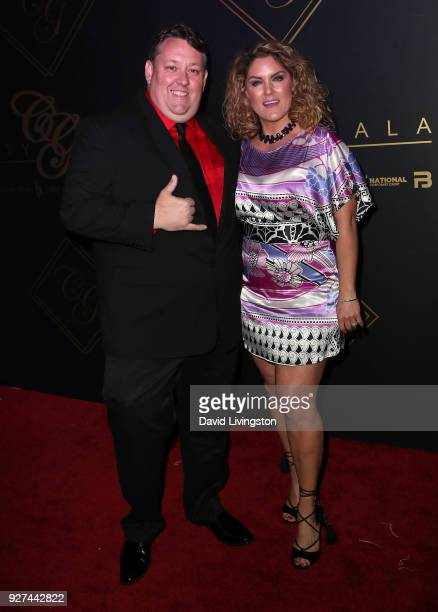 TV personalities Rene Nezhoda and Casey Nezhoda attend City Gala 2018 at Universal Studios Hollywood on March 4 2018 in Universal City California