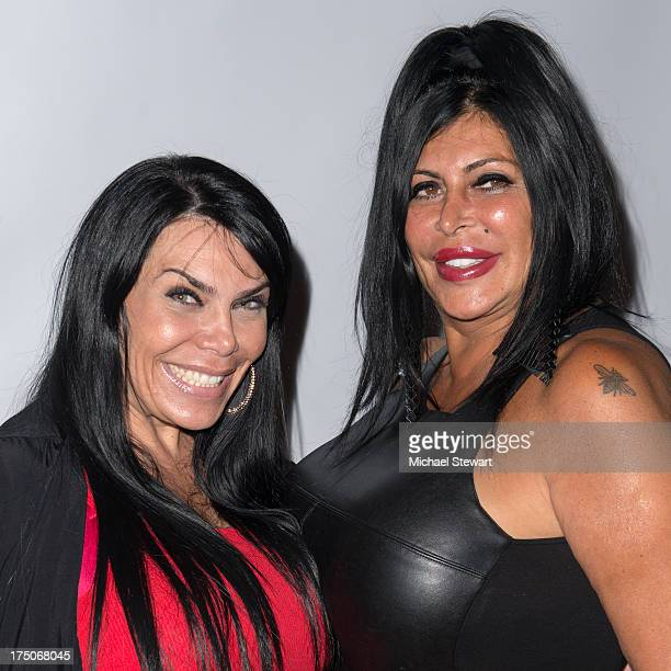 TV personalities Renee Graziano and Angela 'Big Ang' Raiola attend dinner and a movie at KTCHN Restaurant on July 30 2013 in New York City