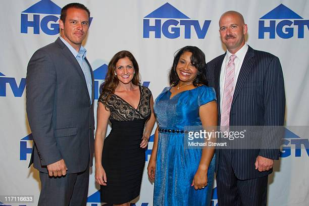 TV personalities Richard Kuhl Julie Provenzano Cora Sue Anthony and Mike Aubrey attend the Wine Design party at the Altman Building on June 22 2011...