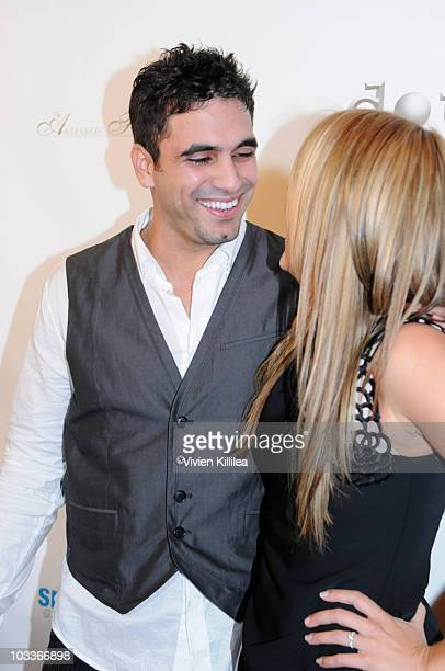Personalities Roberto Martinez and Ali Fedowski attend the 10th Annual Harold Pump Foundation Gala - Arrivals at the Hyatt Regency Century Plaza on...