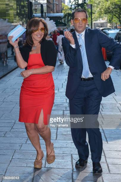 TV personalities Rosanna Scotto and David Price enter the 'Good Day New York' taping at the Fox 5 Studios on August 16 2012 in New York City