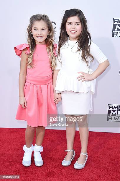 TV personalities Rosie Grace and Sophia Grace attend the 2015 American Music Awards at Microsoft Theater on November 22 2015 in Los Angeles California