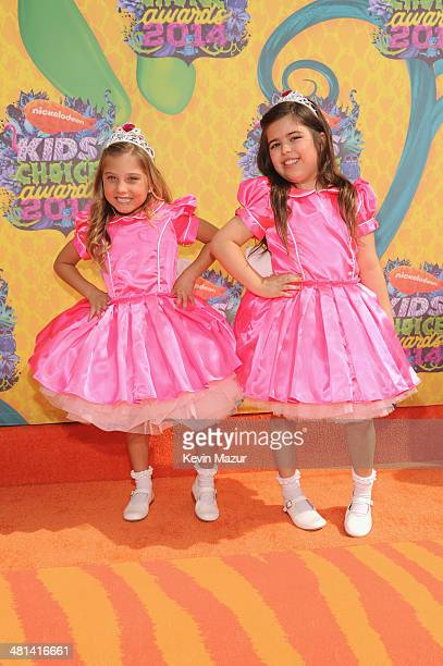 TV personalities Rosie Grace and Sophia Grace Brownlee attend Nickelodeon's 27th Annual Kids' Choice Awards held at USC Galen Center on March 29 2014...