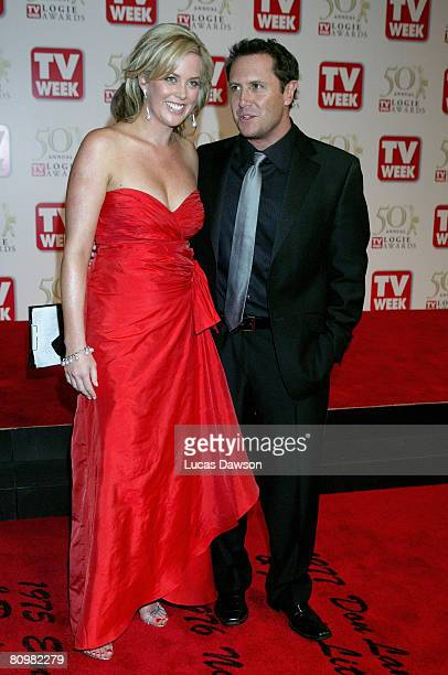 TV personalities Samantha Armytage and Larry Emdur arrive on the red carpet at the 50th Annual TV Week Logie Awards at the Crown Towers Hotel and...