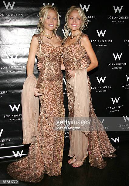 Personalities Sandy Bentley and Mandy Bentley attend the W Hotel Fundraiser for Hurricane Katrina September 20 2005 in Westwood California