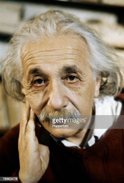 February 1944 A portrait of Professor Albert Einstein German born US physicist who formulated theories of relativity and worked on radiation physics...