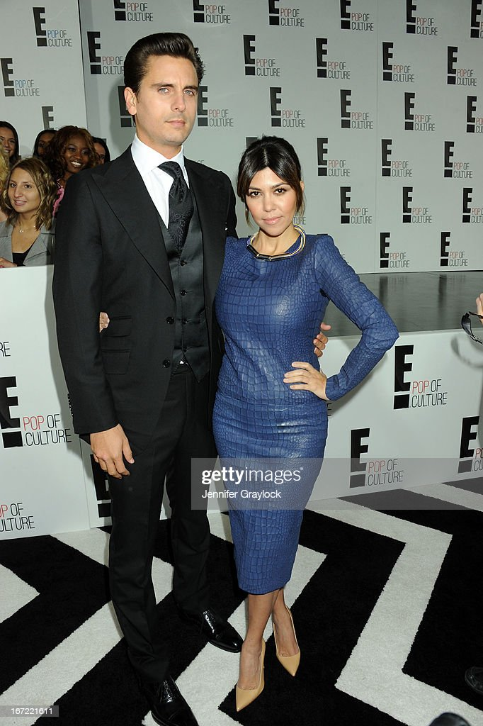 TV personalities Scott Disick and Kourtney Kardashian attend the E! 2013 Upfront at The Grand Ballroom at Manhattan Center on April 22, 2013 in New York City.