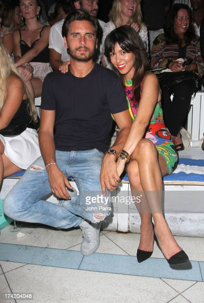 TV personalities Scott Disick and Kourtney Kardashian attend the Wildfox Swim Cruise 2014 show at Soho Beach House on July 21 2013 in Miami Beach...