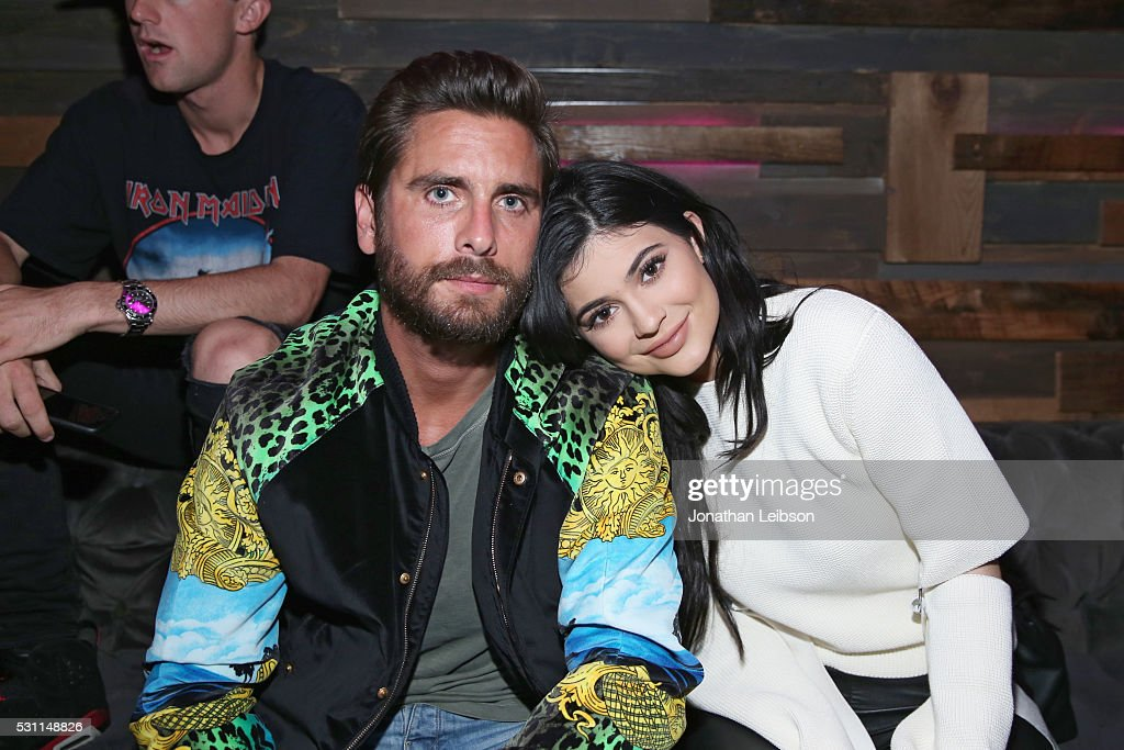 TV personalities Scott Disick (L) and Kylie Jenner attend NYLON Young Hollywood Party, presented by BCBGeneration at HYDE Sunset: Kitchen + Cocktails on May 12, 2016 in West Hollywood, California.