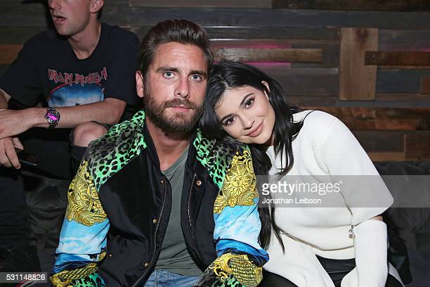 TV personalities Scott Disick and Kylie Jenner attend NYLON Young Hollywood Party presented by BCBGeneration at HYDE Sunset Kitchen Cocktails on May...