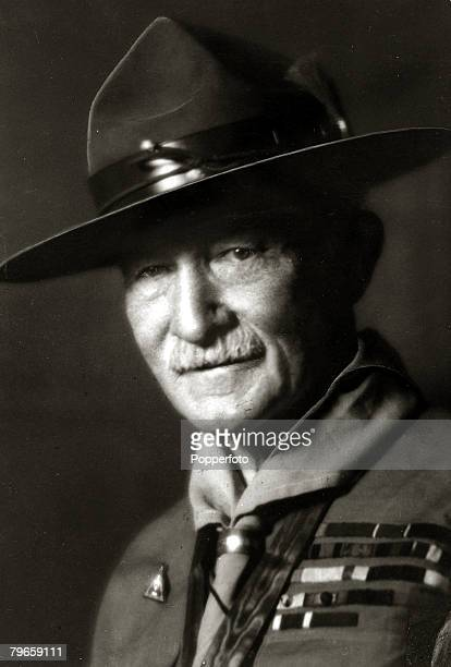 circa 1920's Sir Robert BadenPowell founder of the Scout movement portrait Lord Baden Powell founder of the World Scout movement and Chief Scout of...