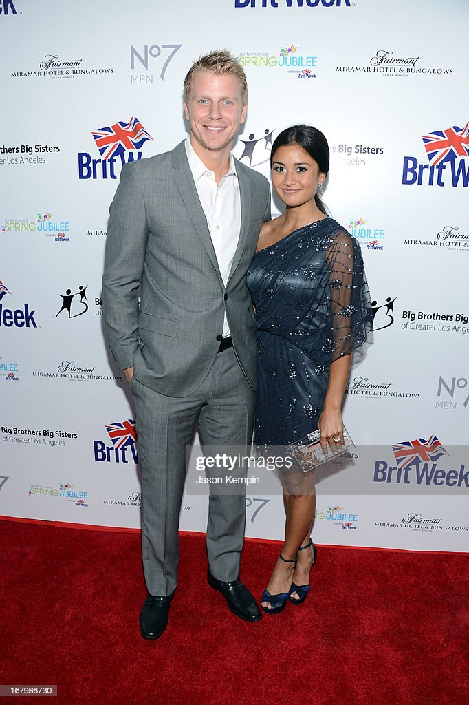 TV personalities Sean Lowe (L) and Catherine Giudic attend BritWeek Celebrates Downton Abbey at The Fairmont Miramar Hotel on May 3, 2013 in Santa Monica, California.