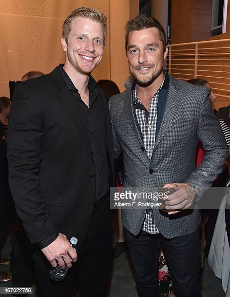 TV personalities Sean Lowe and Chris Soules attend the WE tv presents 'The Evolution of The Relationship Reality Show' at The Paley Center for Media...