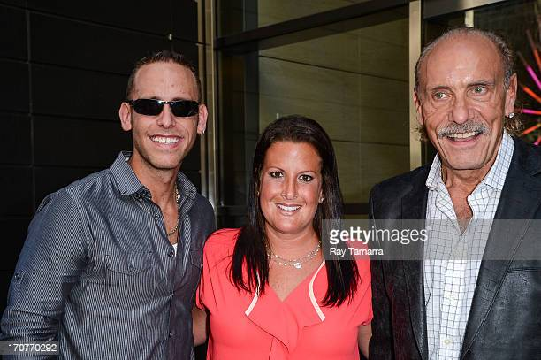 TV personalities Seth Gold Ashley Broad and Les Gold leave their Midtown Manhattan hotel on June 17 2013 in New York City