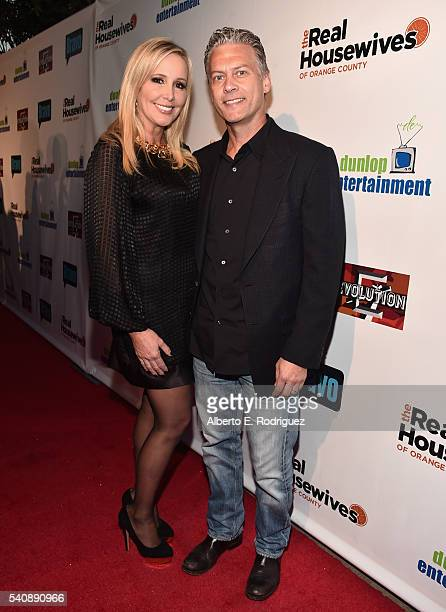 TV personalities Shannon Beador and David Beador attend the premiere party for Bravo's 'The Real Housewives of Orange County' 10 year celebration at...