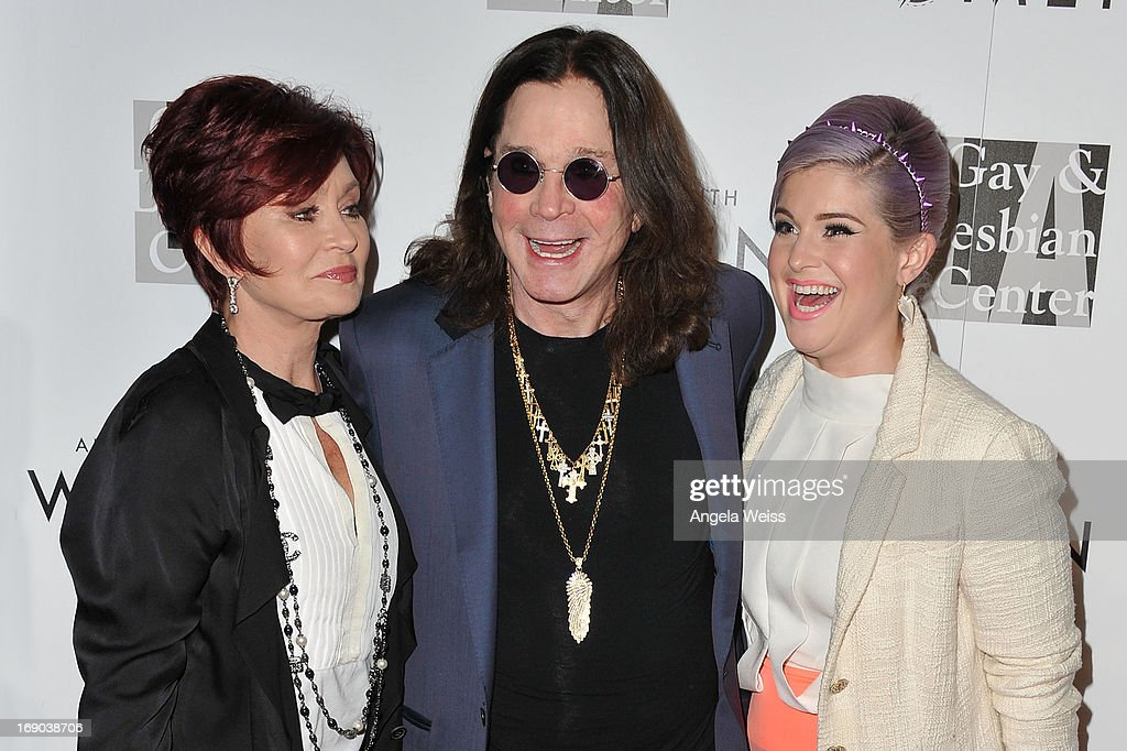 TV personalities Sharon, Ozzy and Kelly Osbourne arrive at the L.A. Gay & Lesbian Center's 2013 'An Evening With Women' Gala at The Beverly Hilton Hotel on May 18, 2013 in Beverly Hills, California.