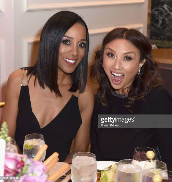 TV personalities Shaun Robinson and Jeannie Mai attend the 42nd Annual Gracie Awards at the Beverly Wilshire Hotel on June 6 2017 in Beverly Hills...