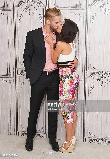 TV personalities Shawn Booth and Kaitlyn Bristowe attend the AOL BUILD Speaker Series presentation of After the Final Rose at AOL Studios in New York...