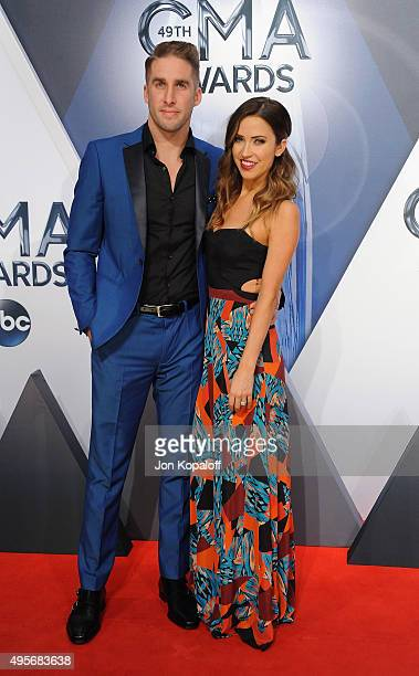 Personalities Shawn Booth and Kaitlyn Bristowe from The Bachelorette attend the 49th annual CMA Awards at the Bridgestone Arena on November 4 2015 in...