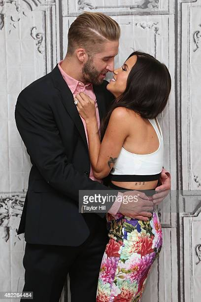 TV personalities Shawn Booth and Kaitlyn Bristowe speak during AOL Build Presents After the Final Rose at AOL Studios In New York on July 29 2015 in...