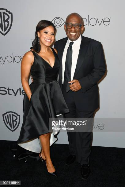 TV personalities Sheinelle Jones and Al Roker attend the 19th Annual PostGolden Globes Party hosted by Warner Bros Pictures and InStyle at The...