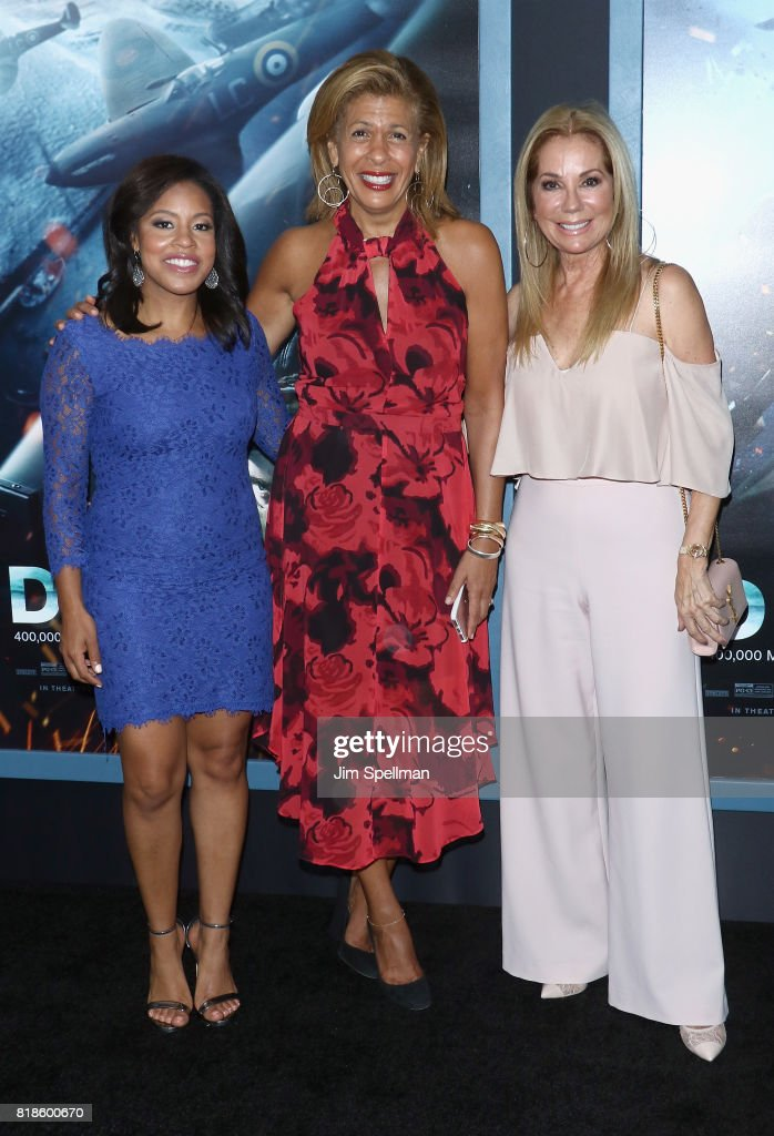 TV personalities Sheinelle Jones, Hoda Kotb and Kathie Lee Gifford attend the 'DUNKIRK' New York premiere at AMC Lincoln Square IMAX on July 18, 2017 in New York City.