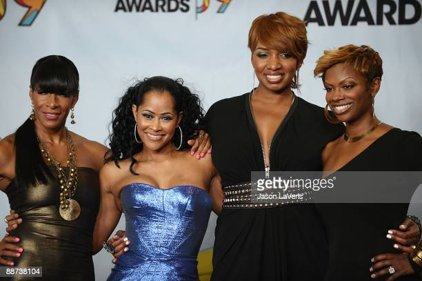Personalities Sheree Whitfield, Lisa Wu Hartwell, NeNe Leakes and Kandi Burruss from 'The Real Housewives of Atlanta' pose for photos in the press...