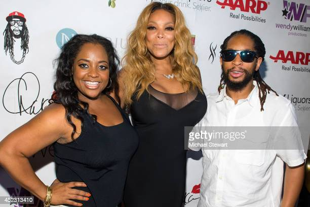 TV personalities Sherri Shepherd Wendy Williams and rapper Lil Jon attend Wendy Williams' 50th Birthday Party at 42West on July 17 2014 in New York...