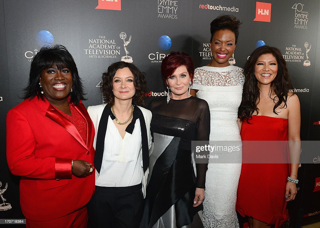 TV personalities Sheryl Underwood, Sara Gilbert, Sharon Osbourne, Aisha Tyler and Julie Chen attend The 40th Annual Daytime Emmy Awards at The Beverly Hilton Hotel on June 16, 2013 in Beverly Hills, California.