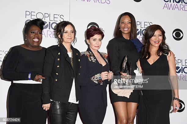 TV personalities Sheryl Underwood Sara Gilbert Sharon Osbourne Aisha Tyler and Julie Chen winners of Favorite Daytime Talk Show Hosting Team for 'The...