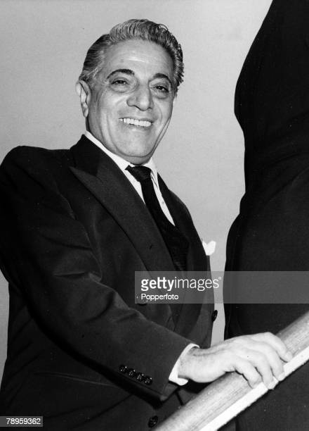 Personalities, Shipping, pic: January 1960, Greek ship owner Aristotle Onassis pictured at London Airport