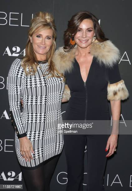 TV personalities Sonja Morgan and Luann de Lesseps attend the Gloria Bell New York screening at Museum of Modern Art on March 04 2019 in New York City