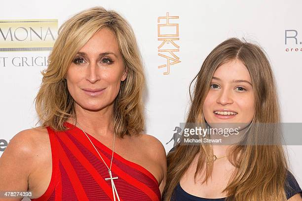 TV personalities Sonja Morgan and Quincy Morgan attend the The Real Housewives Of New York City season six premiere party at Tokya on March 12 2014...