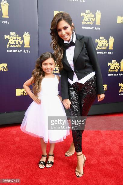 TV personalities Sophia Abraham and Farrah Abraham attend the 2018 MTV Movie And TV Awards at Barker Hangar on June 16 2018 in Santa Monica California