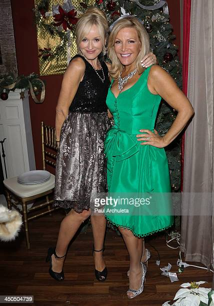 Personalities Sophie Uliano and Kym Douglas attend the Hallmark Channel's Home Family Holiday Special at Universal Studios Hollywood on November 18...