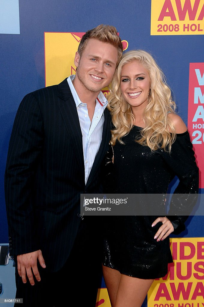 TV personalities Spencer Pratt and Heidi Montag arrives at the 2008 MTV Video Music Awards at Paramount Pictures Studios on September 7, 2008 in Los Angeles, California.