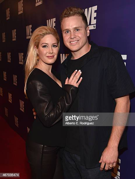 TV personalities Spencer Pratt and Heidi Montag attend the WE tv presents The Evolution of The Relationship Reality Show at The Paley Center for...