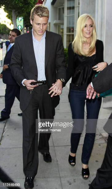 Personalities Spencer Pratt and Heidi Montag visit Mr. Chow restaurant on June 4, 2008 in Beverly Hills, California.