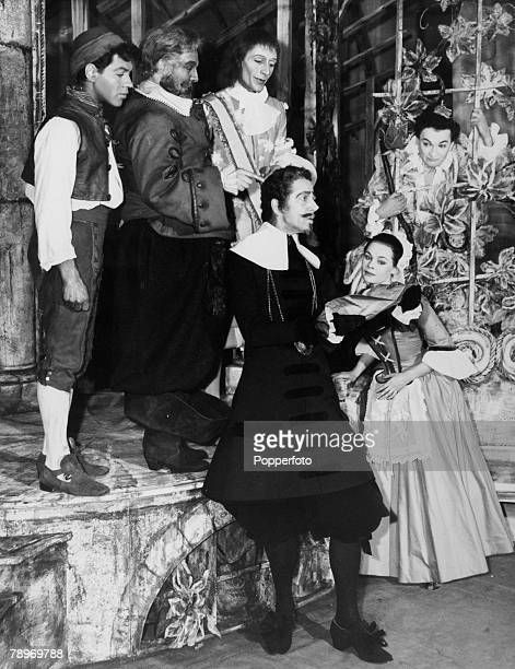 31st March 1958 London British actress Judi Dench one of the greatest actors of the postwar period pictured far right with actors back leftright...