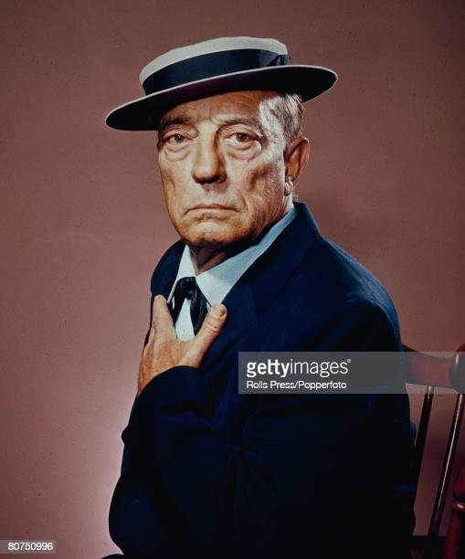 circa 1950 Buster Keaton American film comedian/actor