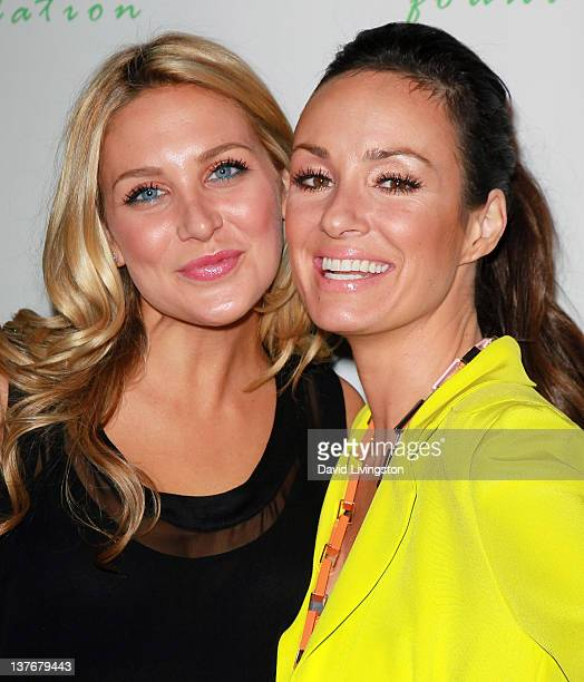 TV personalities Stephanie Pratt and Catt Sadler attend the Giving Back Never Looked So Good event hosted by Catt Sadler at W Hollywood Hotel on...