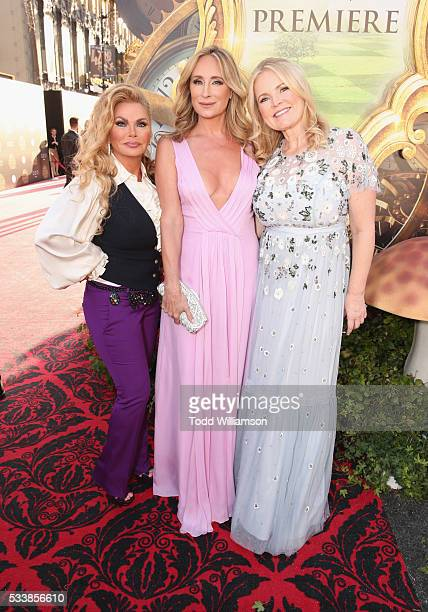 TV personalities Suzan Hughes Sonja Morgan and producer Suzanne Todd attend the premiere of Disney's 'Alice Through The Looking Glass' at the El...