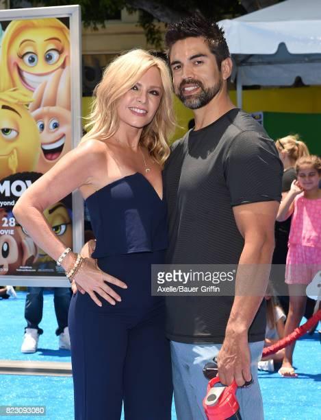TV personalities Tamra Judge and Eddie Judge arrive at the premiere of 'The Emoji Movie' at Regency Village Theatre on July 23 2017 in Westwood...
