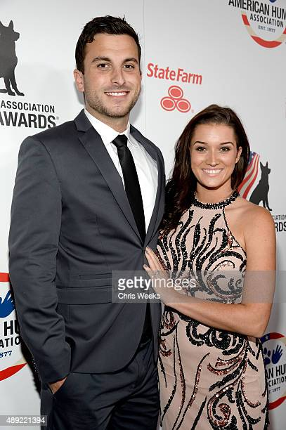 TV personalities Tanner Tolbert and Jade Roper attend the American Humane Association's 5th Annual Hero Dog Awards 2015 at The Beverly Hilton Hotel...