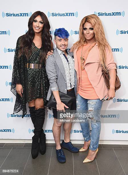 TV personalities Tatiana Phi Phi O'Hara and Roxxxy Andrews visit SiriusXM Studios on August 24 2016 in New York City