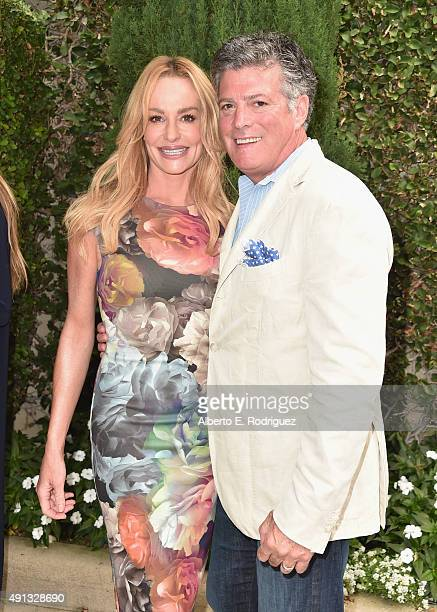 TV personalities Taylor Armstrong and John H Bluher attend The Rape Foundation's annual brunch at Greenacres The Private Estate of Ron Burkle on...