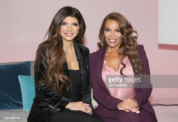 Personalities Teresa Guidice and Dolores Catania visit People Now on February 05, 2020 in New York, United States.