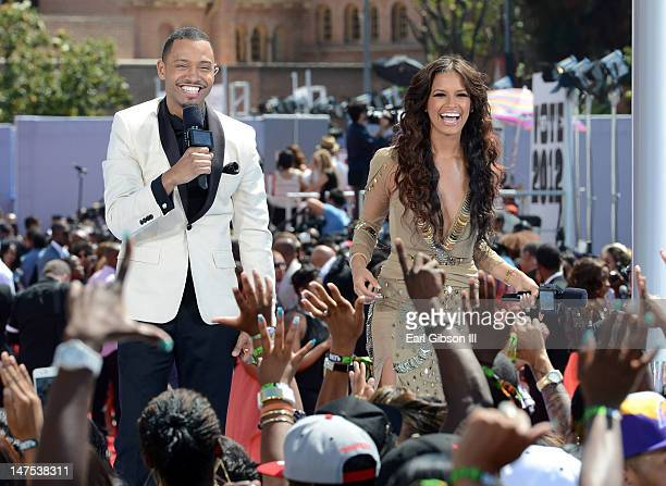 Personalities Terrence J and Rocsi Diaz attend the 2012 BET Awards at The Shrine Auditorium on July 1 2012 in Los Angeles California